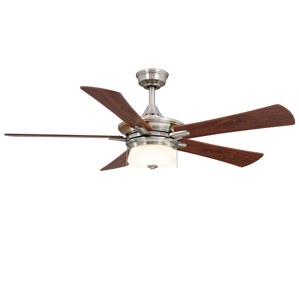 Hampton Bay Winthrop 52 In Indoor Brushed Nickel Ceiling