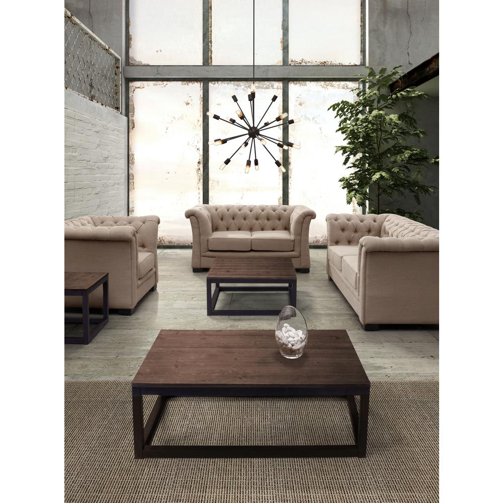 Natural Coffee Tables: ZUO Upton Distressed Natural Coffee Table-98122
