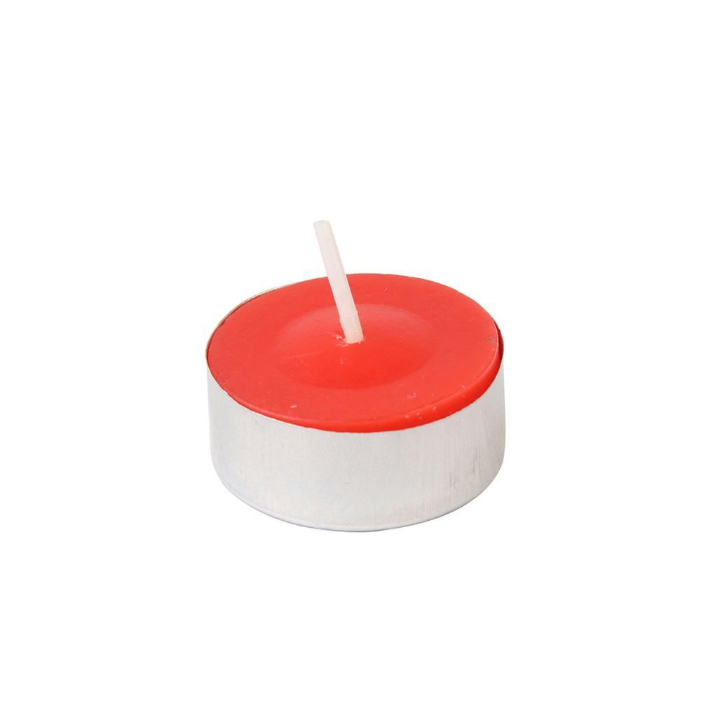 1.5 in. Red Citronella Tealight Candles (100-Box), Reds / Pinks