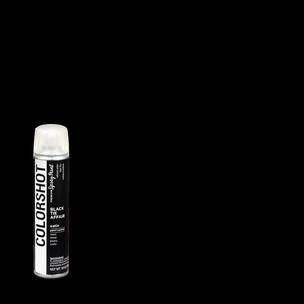 10oz Satin Black Tie Affair Black General Purpose Aerosol Spray Paint