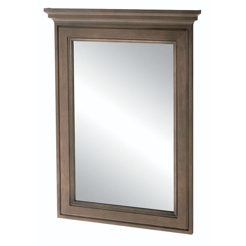 Home Decorators Collection Albright 34 In L X 25 In W Framed Vanity Wall Mirror In Winter Gray