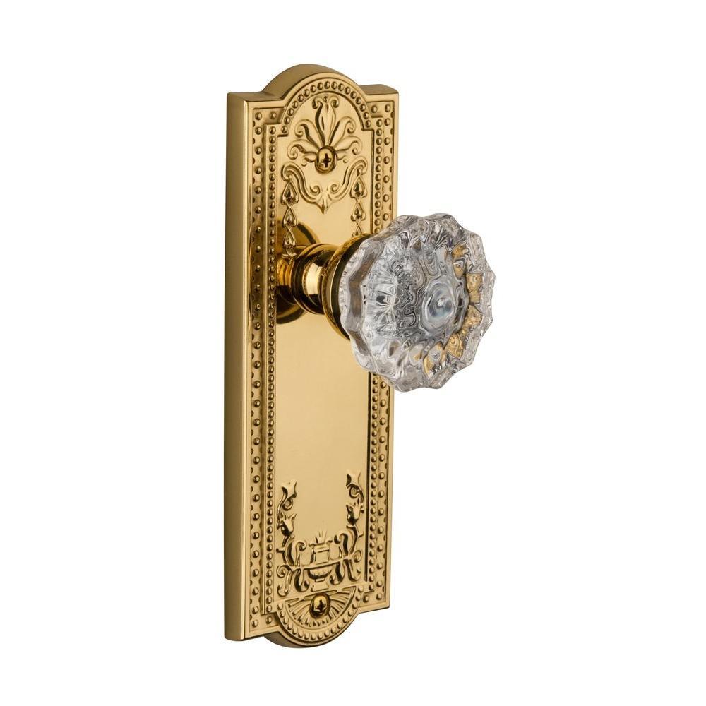 Grandeur Parthenon Vintage Brass Plate with Dummy Versailles Crystal Knob