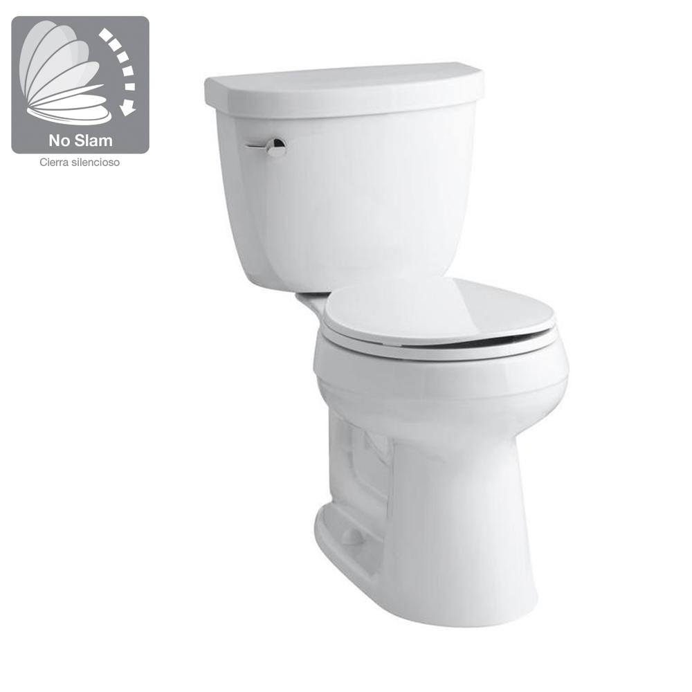 Brilliant Kohler Cimarron Comfort Height 2 Piece Single Flush 1 6 Gpf Round Toilet In Biscuit With Cachet Q3 Toilet Seat Gamerscity Chair Design For Home Gamerscityorg
