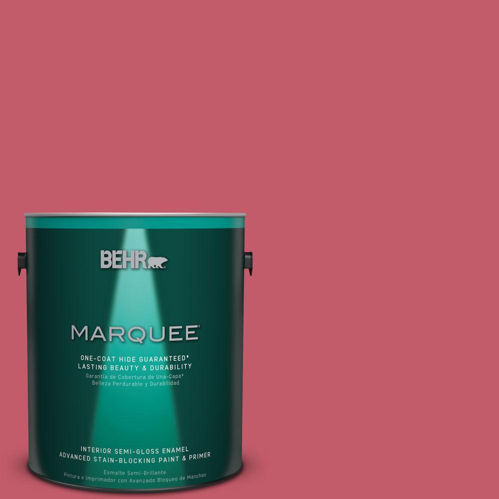 1 gal. #MQ4-1 Candy Drop One-Coat Hide Semi-Gloss Enamel Interior Paint