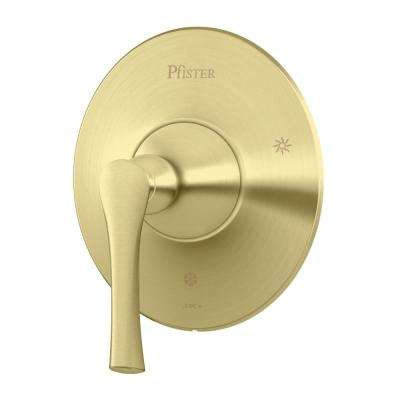 Rhen 1-Handle Tub and Shower Valve Only Trim Kit in Brushed Gold (Valve Not Included)