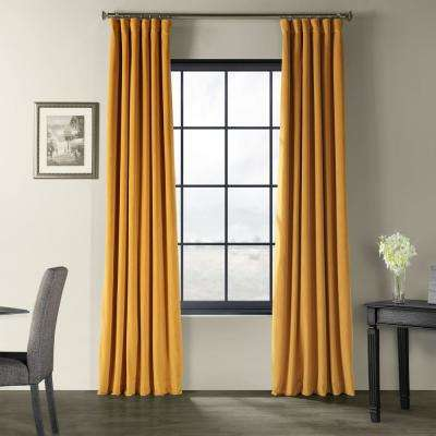 Signature Fool's Gold Blackout Velvet Curtain - 50 in. W x 84 in. L