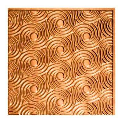 Cyclone - 2 ft. x 2 ft. Glue-up Ceiling Tile in Antique Bronze