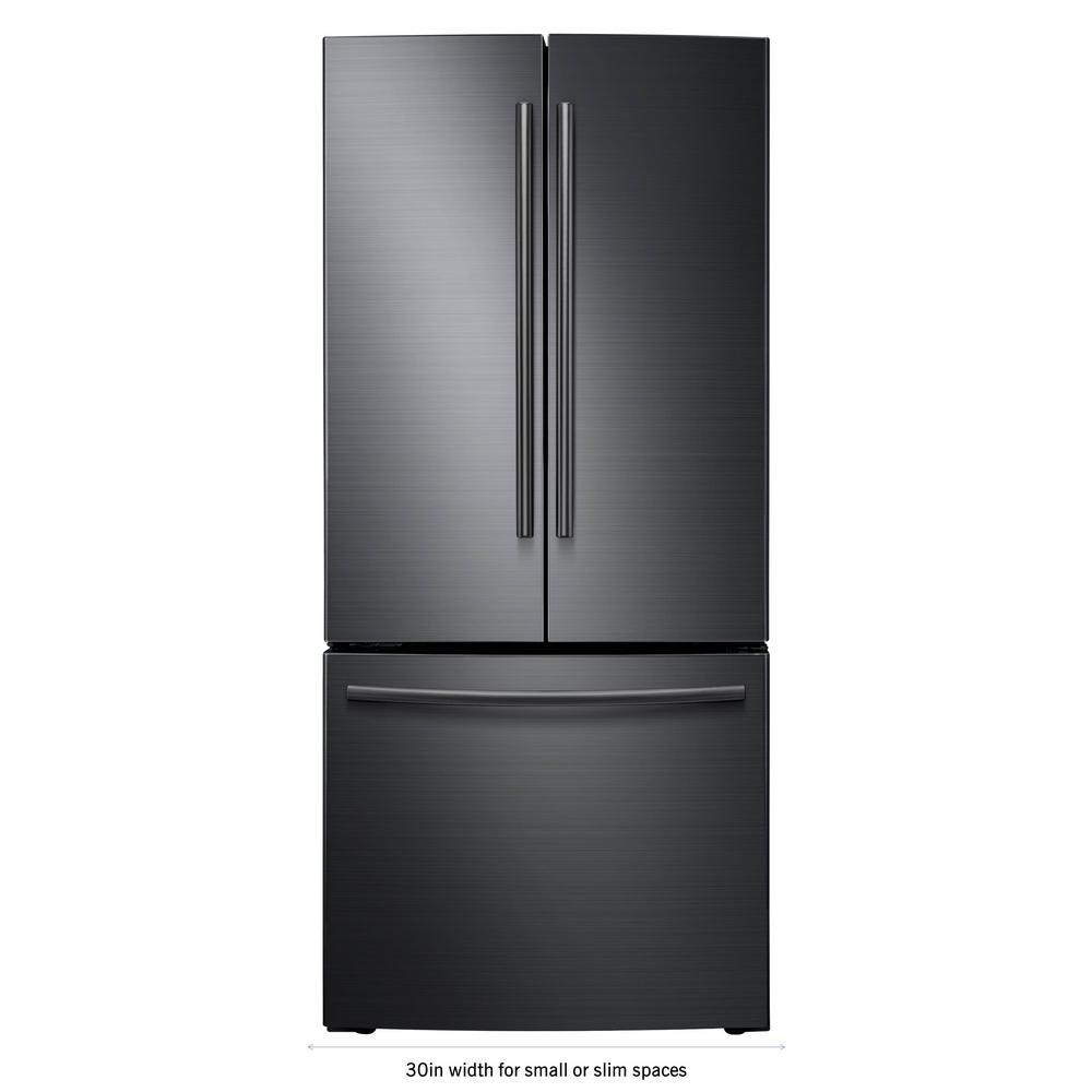 Samsung 30 In W 218 Cu Ft French Door Refrigerator In