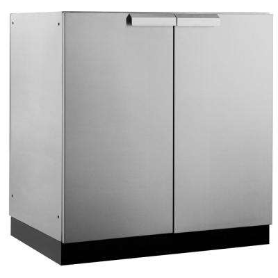 Stainless Steel Classic 32 in. 2 Door Base 32x35x24 in. Outdoor Kitchen Cabinet