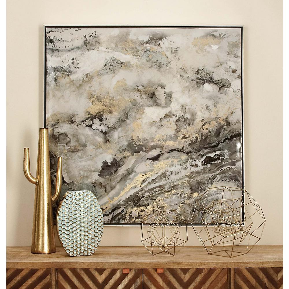 """Affordable Marble Home Decor: 41 In. X 41 In. """"Abstract Marble"""" Framed Canvas Wall Art"""