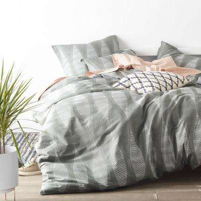 Facade Gray King Duvet Cover