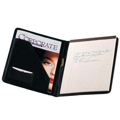 Genuine Leather Executive Writing Portfolio Organizer, Black