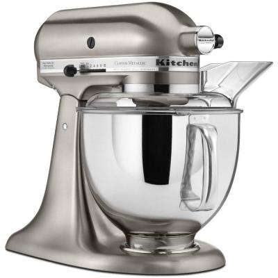Custom Metallic 5 Qt. Brushed Nickel Stand Mixer