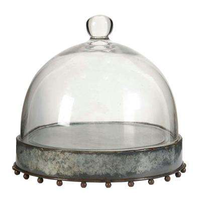 Knox 8.5 in. x 8 in. Decorative Plate with Glass Lid