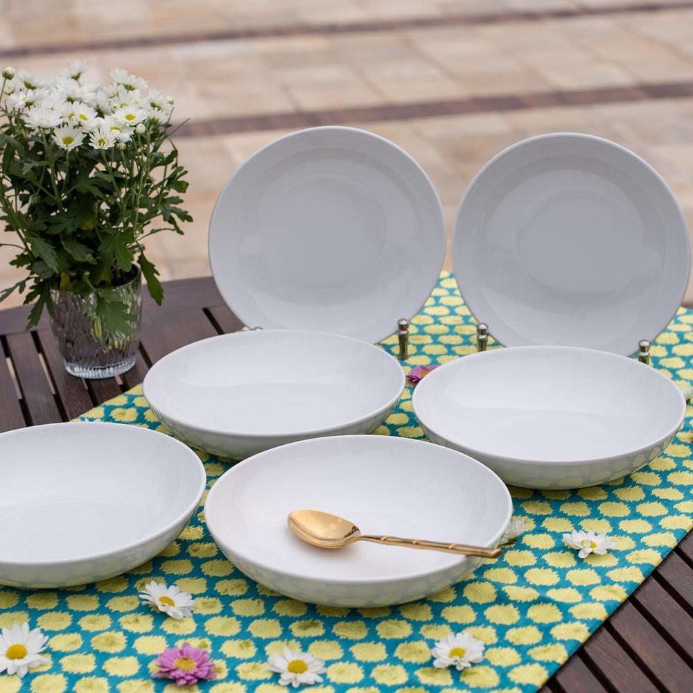Coup 8.46 in. 28 fl. oz. White Porcelain Soup Bowls (Set of 6)