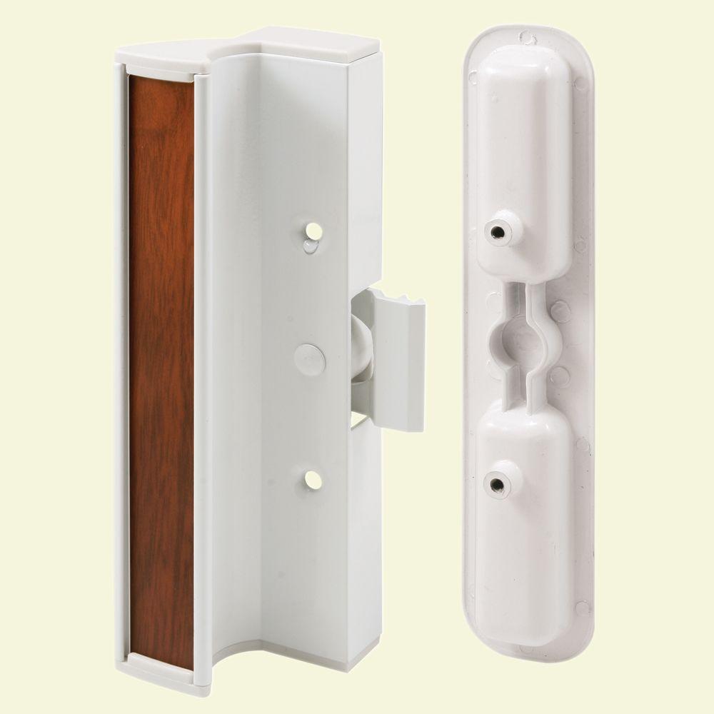 Prime Line White International Sliding Door Handle Set