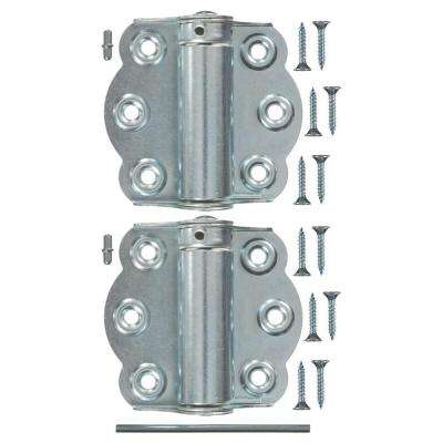 2-3/4 in. Zinc-Plated Adjustable Self-Closing Hinge Set