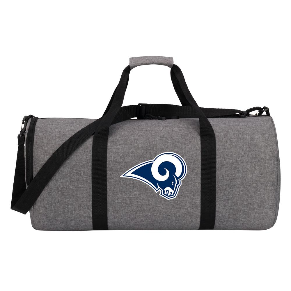 LA Rams Wingman 10 in. Heathered Gray Duffle Bag