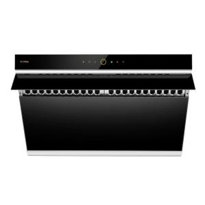 30 in. 1000 CFM Side Draft Air Extraction Under Cabinet or Wall Mount Range Hood with Touchscreen in Onyx Black