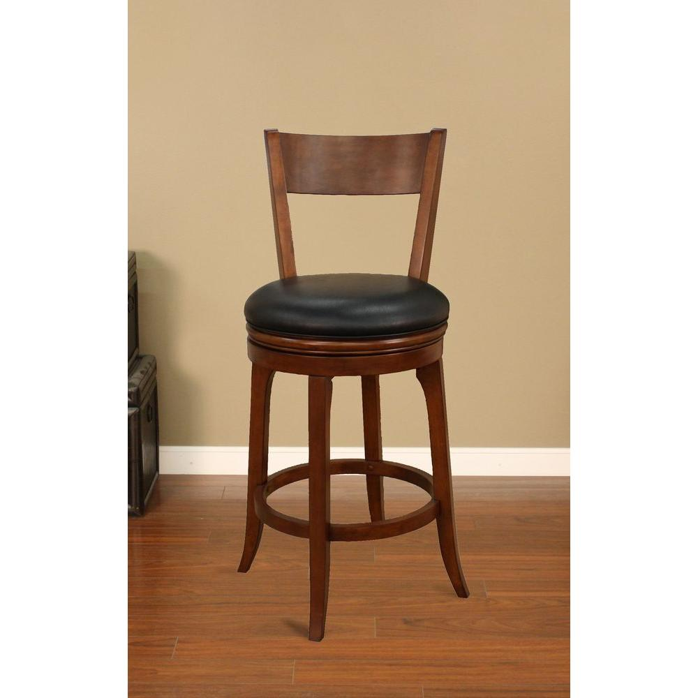 American Heritage Autumn 30 In Suede Cushioned Bar Stool