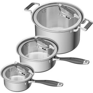 CookCraft by Candace 6-Piece Stainless Steel Cookware Set
