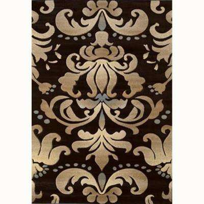 Lotus Smoke Blue 5 ft. 3 in. x 7 ft. 6 in. Contemporary Area Rug