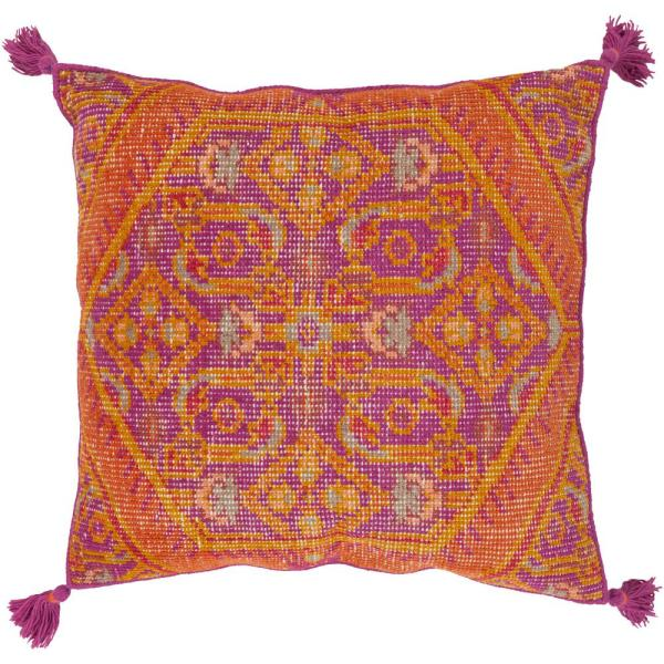 Phesari Purple Graphic Polyester 3In. x 3In. Throw Pillow