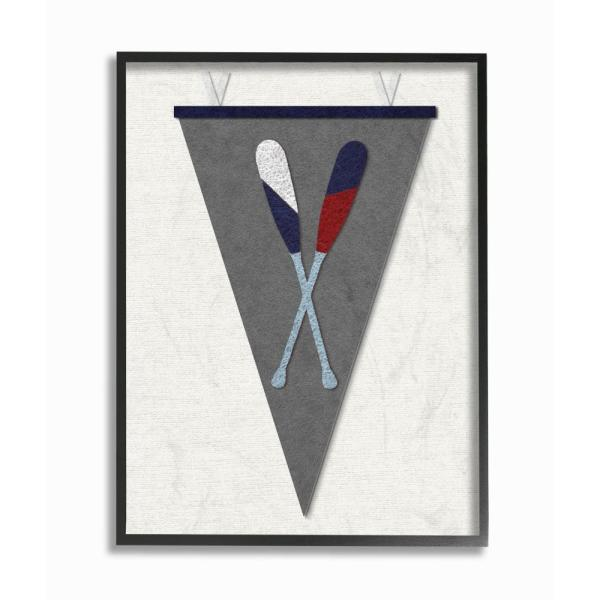 The Stupell Home Decor Collection 11 In X 14 Pennant Oars Fabric