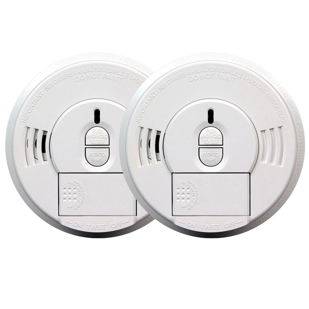 Kidde Battery Operated Smoke Detector with Front Load Battery Door (2-pack)