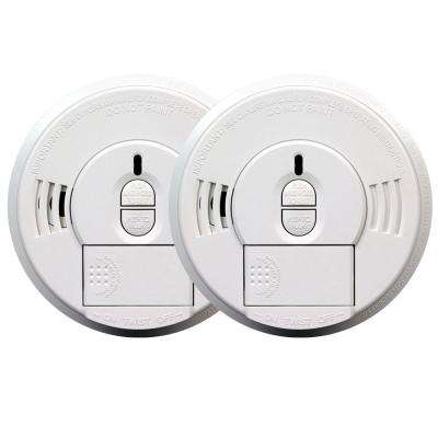 Battery Operated Smoke Detector with Front Load Battery Door (2-pack)