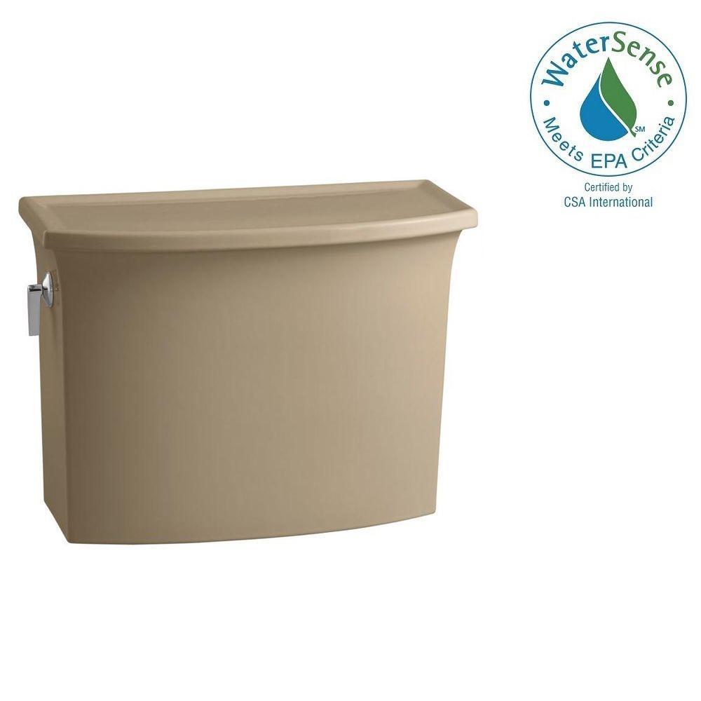KOHLER Archer 1.28 GPF Single Flush Toilet Tank Only with AquaPiston Flushing Technology in Mexican Sand