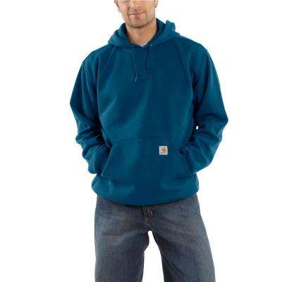 Men's Large Tall Superior Blue Cotton/Polyester SweatShirt Hooded Pullover Org Fit