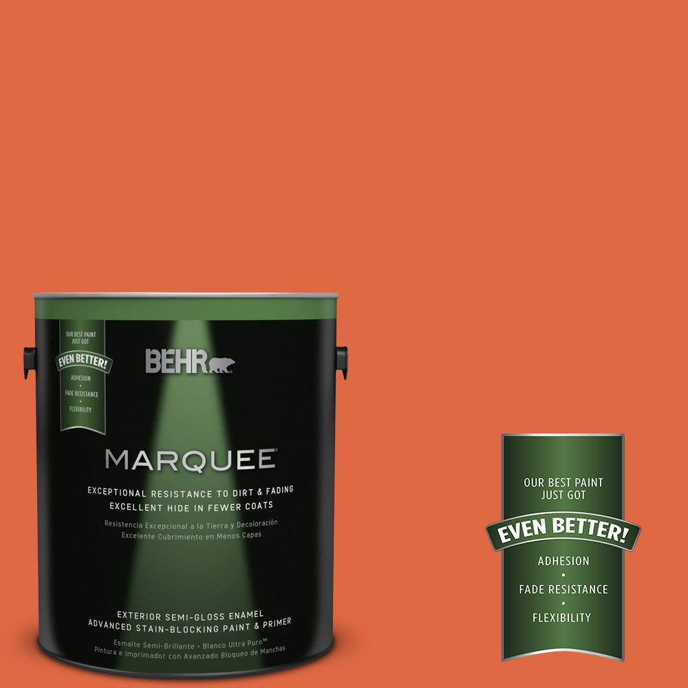 1-gal. #P200-7 Bonfire Night Semi-Gloss Enamel Exterior Paint