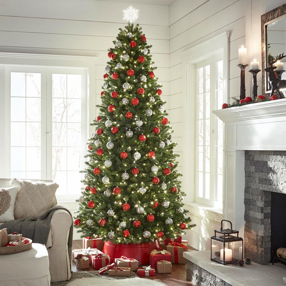 Grow And Stow Christmas Tree.Home Accents Holiday 7 Ft To 9 Ft Pre Lit Led Virginia Pine Grow And Stow Artificial Christmas Tree With 600 Color Changing Lights