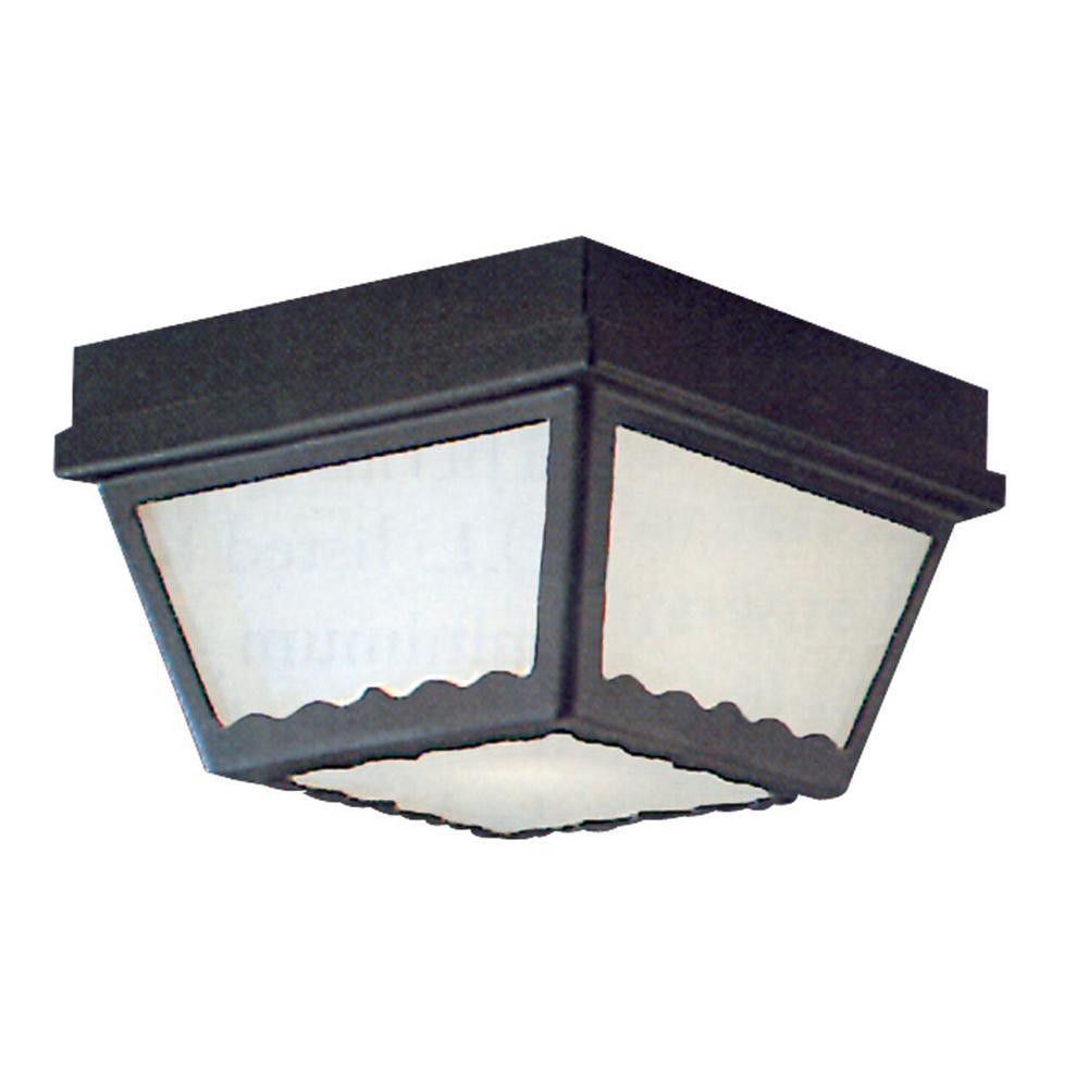 Thomas Lighting Black 2-Light Outdoor Flush Mount