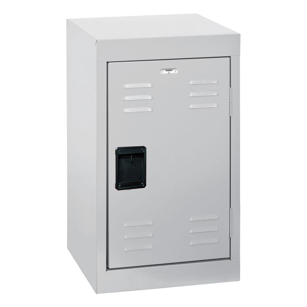 24 in. H Single-Tier Welded Steel Storage Locker in Dove Gray
