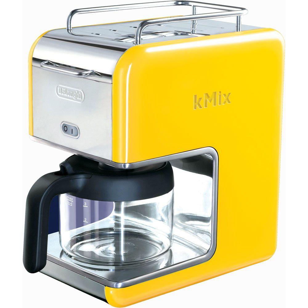 DeLonghi kMix 5-Cup Coffee Maker in Yellow-DISCONTINUED