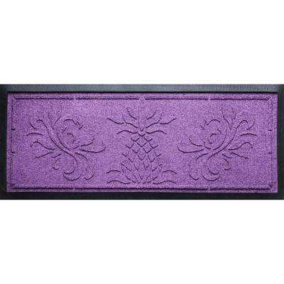 Purple 15 in. x 36 in. x 0.5 in. Pineapple Boot Tray