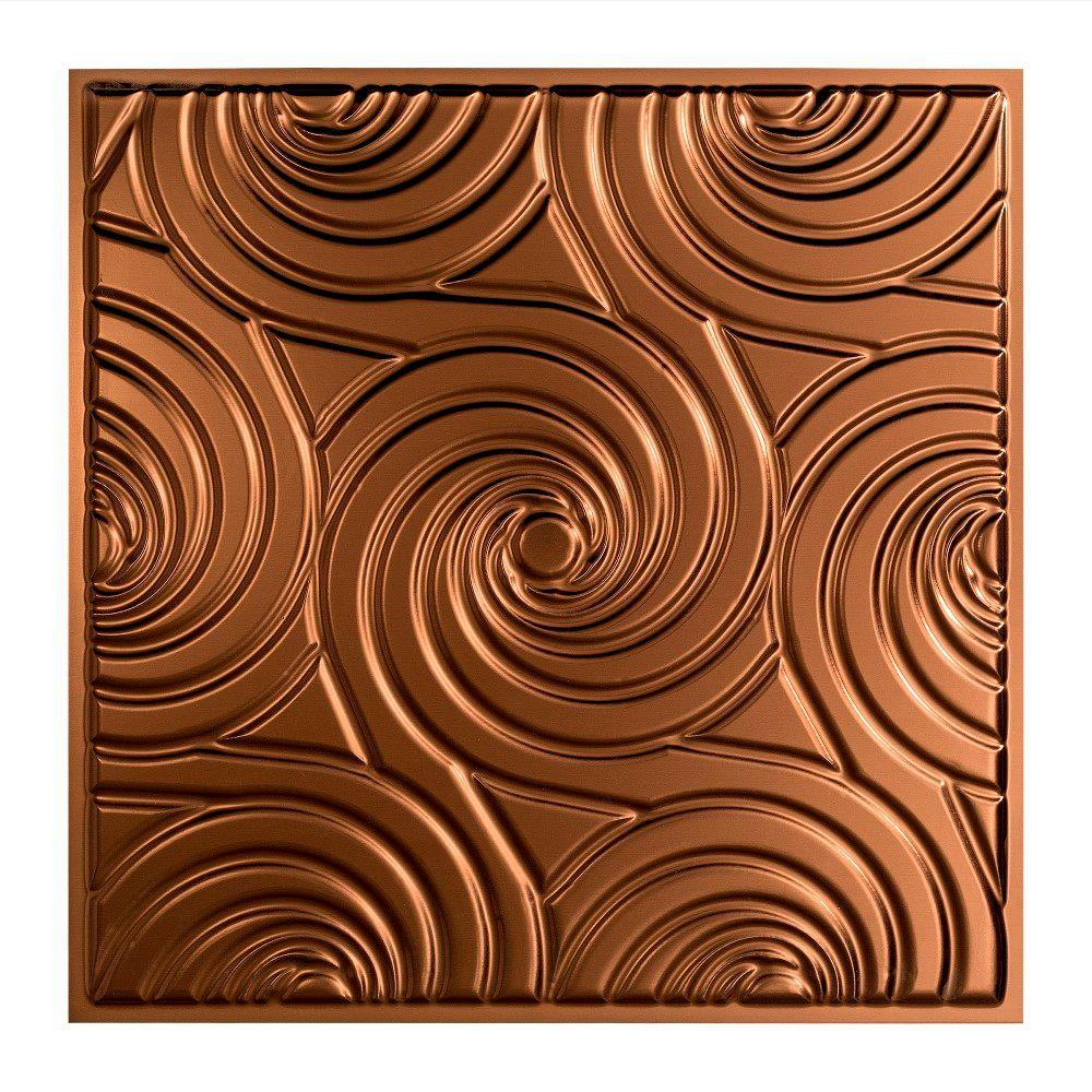 Fasade Typhoon - 2 ft. x 2 ft. Lay-in Ceiling Tile in Oil Rubbed Bronze