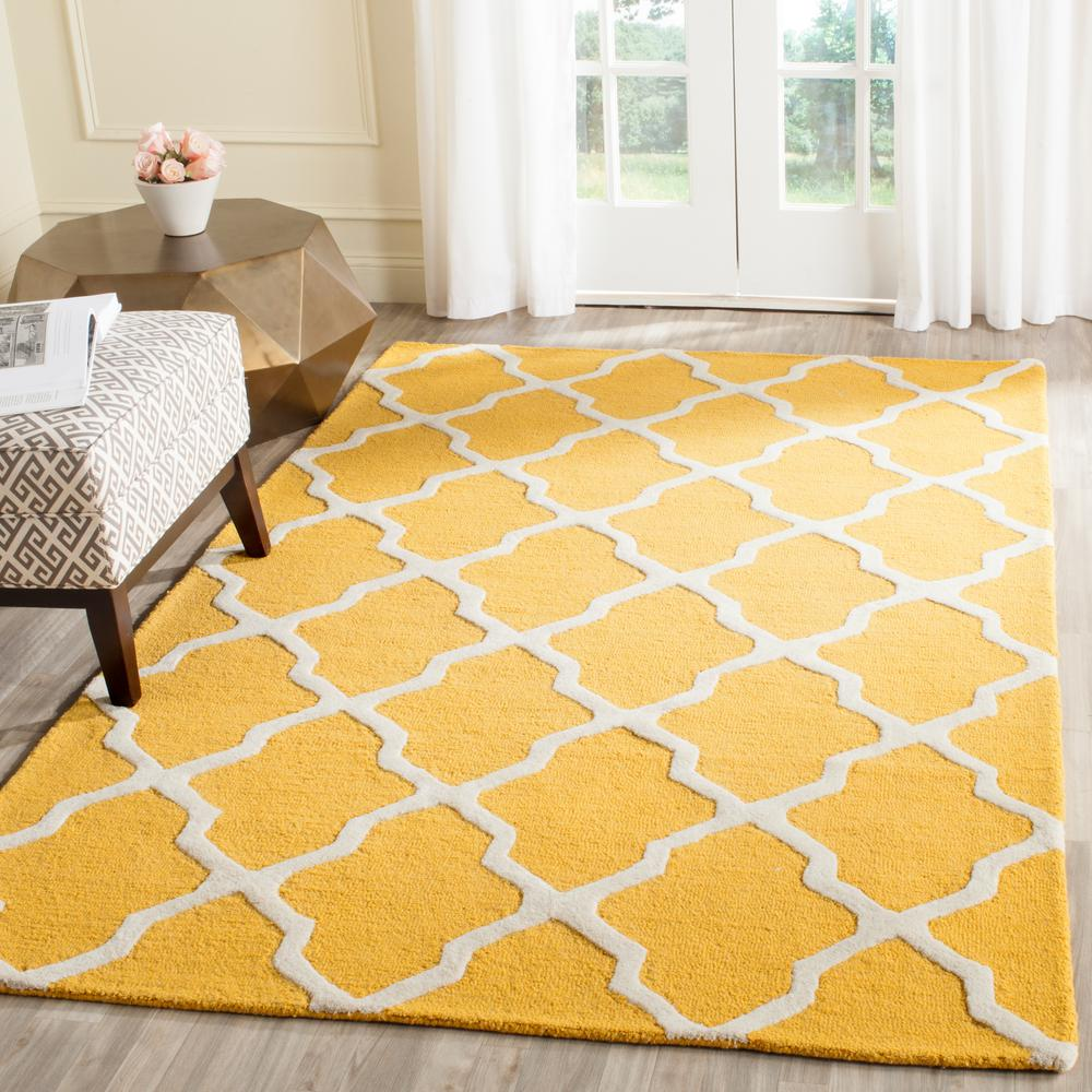 Cambridge Gold/Ivory 6 ft. x 9 ft. Area Rug
