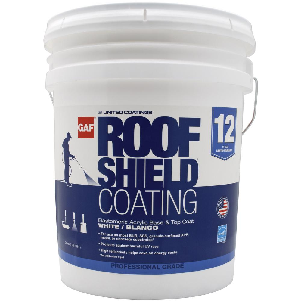 Gaf 5 Gal White Roofshield Reflective Roof Coating