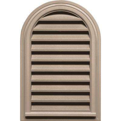 22 in. x 32 in. Round Top Gable Vent in Wicker