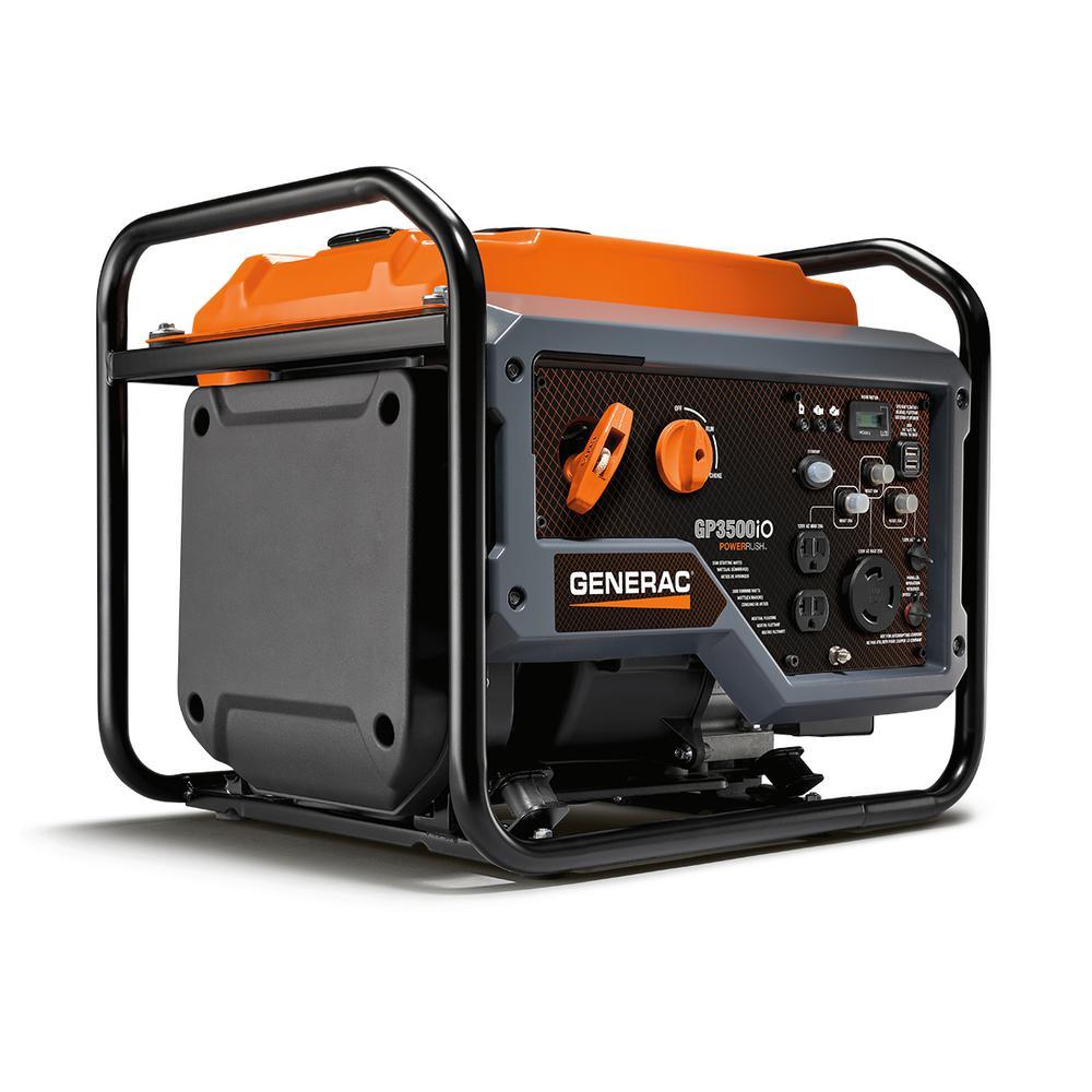 GP3500iO 3500-Watt Gasoline Powered Recoil Start Inverter Generator with PowerRush Technology -Open Frame - 50 State/CSA