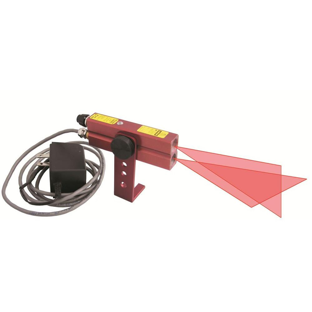 110-Volt AC Red Industrial Alignment Cross-Line Laser Level