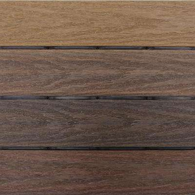 UltraShield Naturale 1 ft. x 1 ft. Quick Deck Outdoor Composite Deck Tile in Mixed Brown (10 sq. ft. per Box)