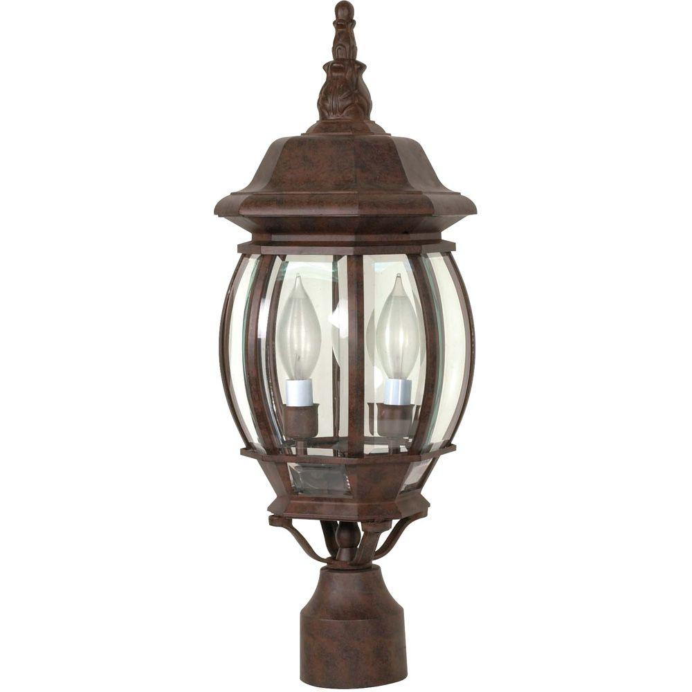 Glomar Concord 3-Light Old Bronze Outdoor L& Post Head  sc 1 st  Home Depot & Glomar Concord 3-Light Old Bronze Outdoor Lamp Post Head-HD-898 ...