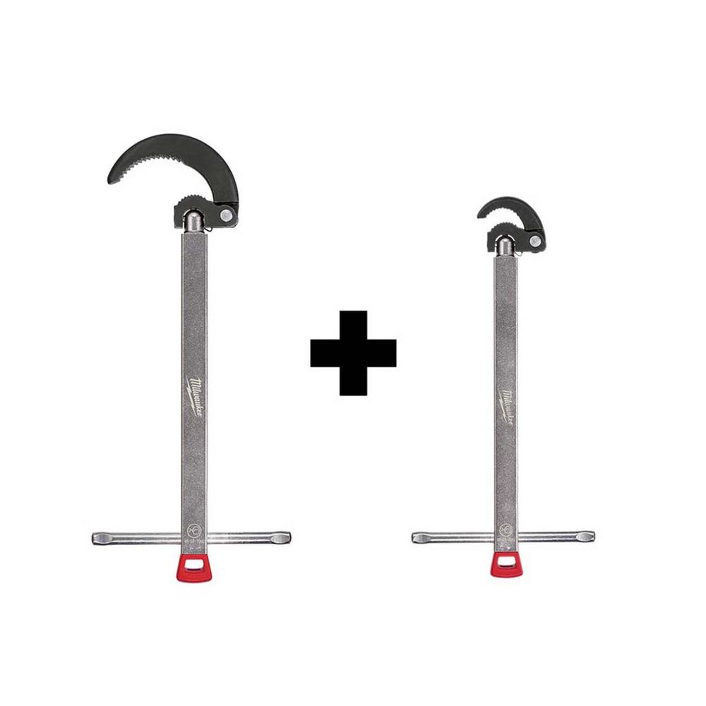 Milwaukee 2.5 in. Basin Wrench with 1.25 in. Basin Wrench was $74.94 now $59.97 (20.0% off)