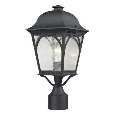 Cape Ann 1-Light Outdoor Matte Textured Black Post Lantern