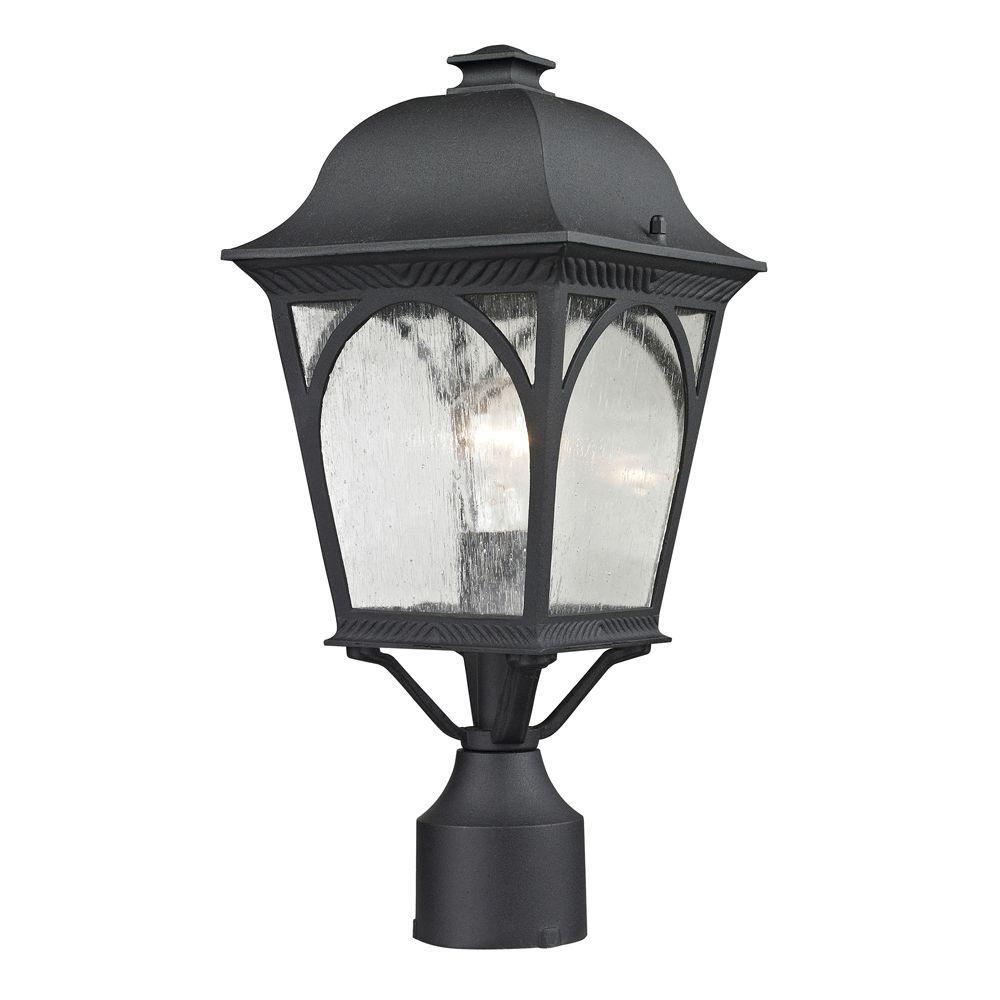 Cape Ann 1-Light Outdoor Matte Textured Black Post Lantern