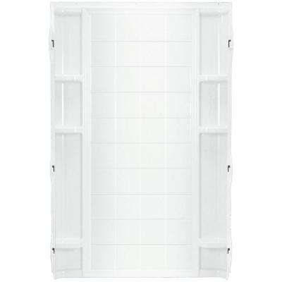 Ensemble 36 in. x 72-1/2 in. 1-Piece Direct-to-Stud Shower Back Wall in White